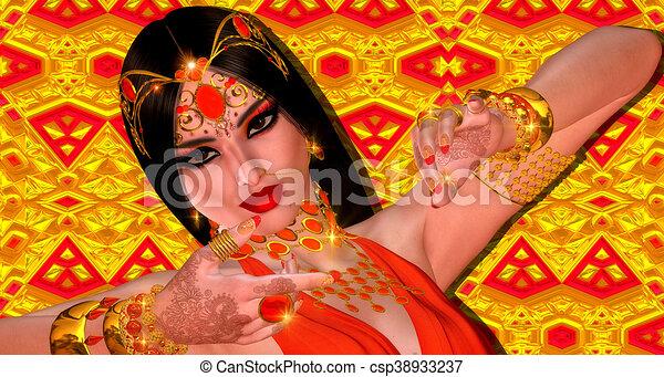 Indian or Asian fantasy woman - csp38933237
