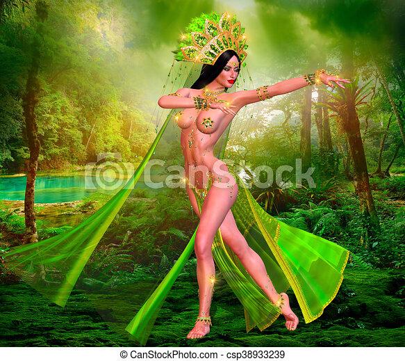 Indian or Asian fantasy woman - csp38933239