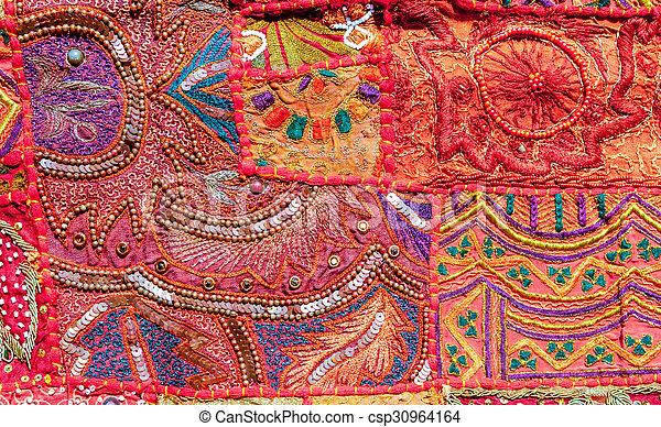 Indian patchwork carpet - csp30964164