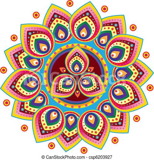 Indian Pattern - csp6203927