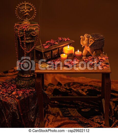 Indian style still life  - csp29922112