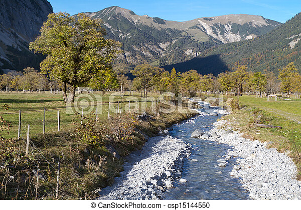 Indian Summer in the Karwendel mountains, Austria - csp15144550