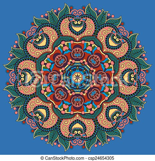 indian symbol of lotus flower - csp24654305