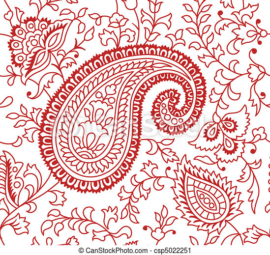 Indian Textile Pattern Indian Seamless Textile Pattern