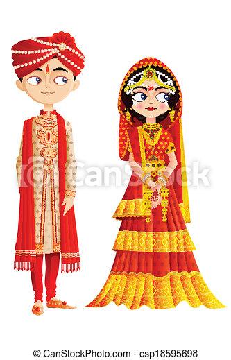 Indian Wedding Couple - csp18595698
