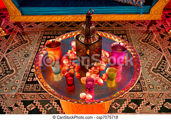 Indian wedding decor image detail of a table setting at for Where can i find wedding decorations