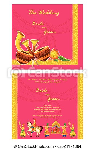 indian wedding invitation vector rescuemetugz