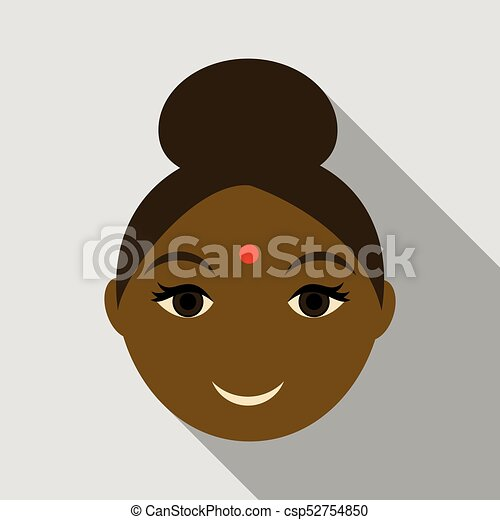 Indian woman icon. Simple illustration of indian woman vector icon for web - csp52754850