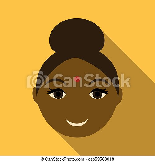 Indian woman icon. Simple illustration of indian woman vector icon for web - csp53568018