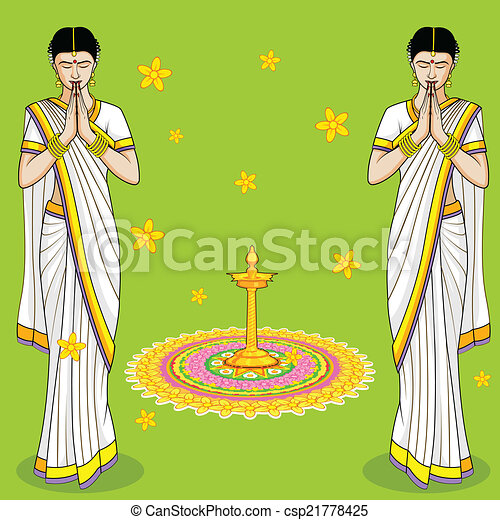 Indian Woman in welcome gesture - csp21778425