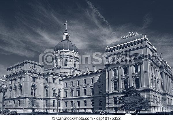 Edificio capitolio de Indiana. - csp10175332