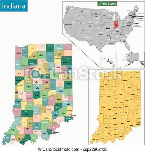 Indiana map - csp22902433