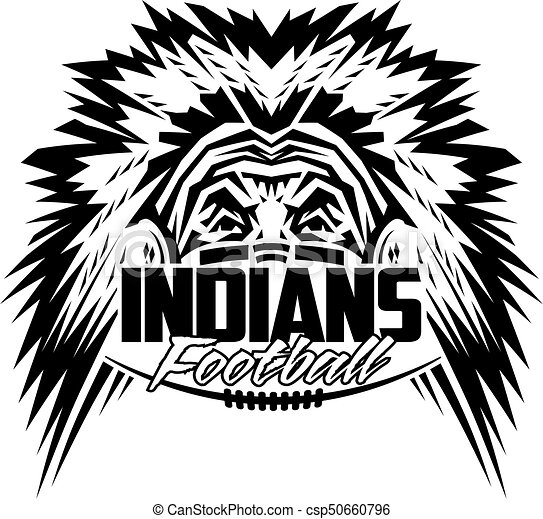 Indian Chief Head Outline