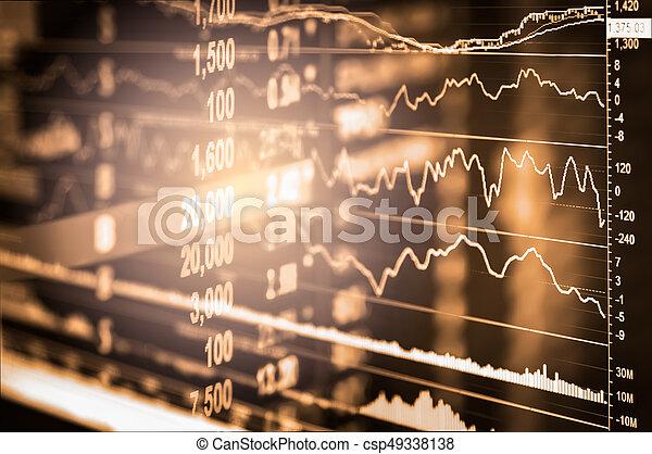 indice, indicatore, finanziario, astratto, globale, analisi, trafficare, fondo., casato, dati, concept., mercato, led. - csp49338138