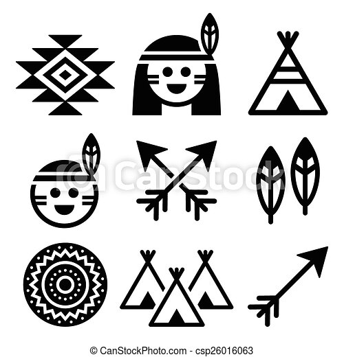 indien, gens, américain, indigène - csp26016063