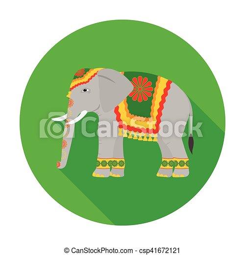 indien, plat, style, illustration., symbole, inde, isolé, arrière