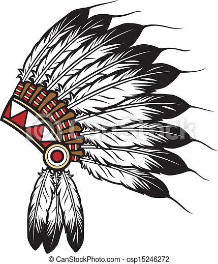 Jefe indio nativo americano - csp15246272