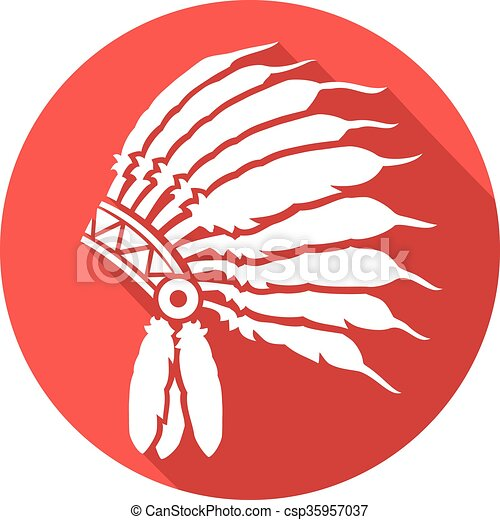 Jefe indio nativo americano - csp35957037