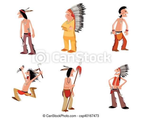 Seis indios listos - csp40167473