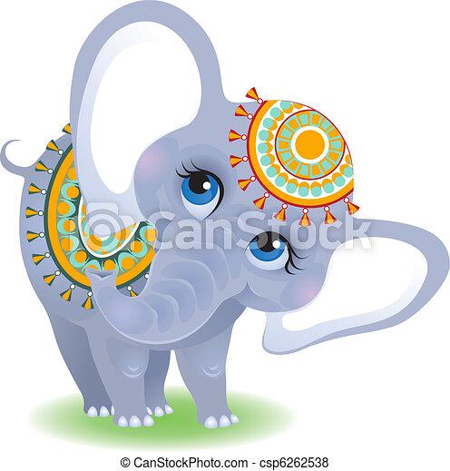 indischer elefant - csp6262538