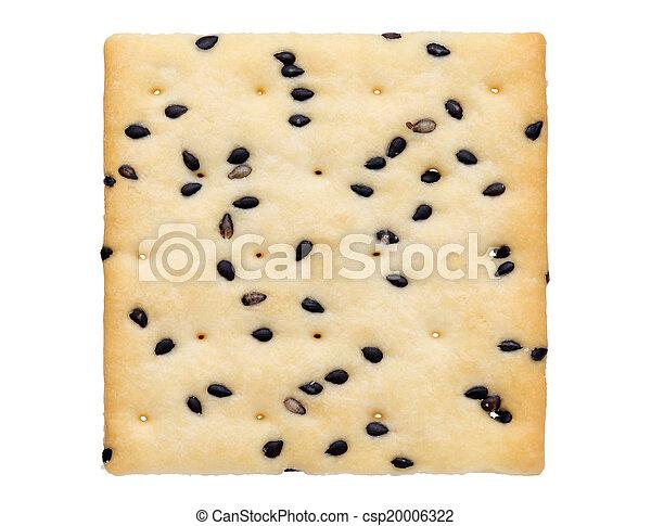 indischer sesam, cracker - csp20006322