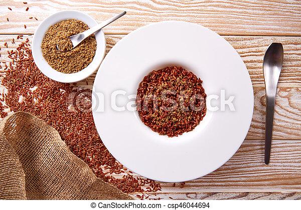 Roter Reis mit Gomasio-Diät