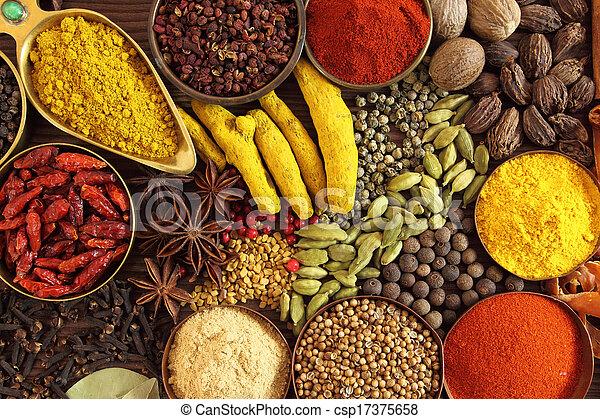 Indisk Kryddor Ingredients Kryddor Bowls Ortar Kokkonst Mat Metall