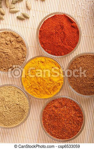 Indisk Kryddor Koriander Kryddor Matta Piri Tra Matlagning Piri Pudra Indisk Underbar Chili Cumin Paprika
