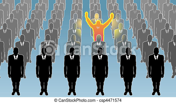 individual  business concept illustration - csp4471574