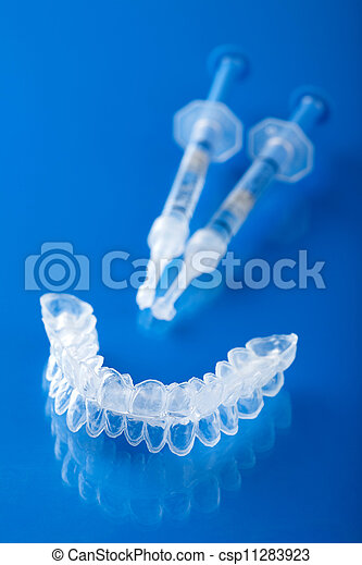 individual tooth tray for whitening  - csp11283923