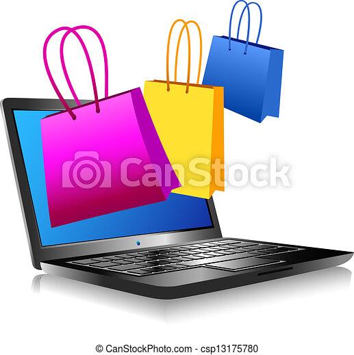 indkøb, internet - csp13175780