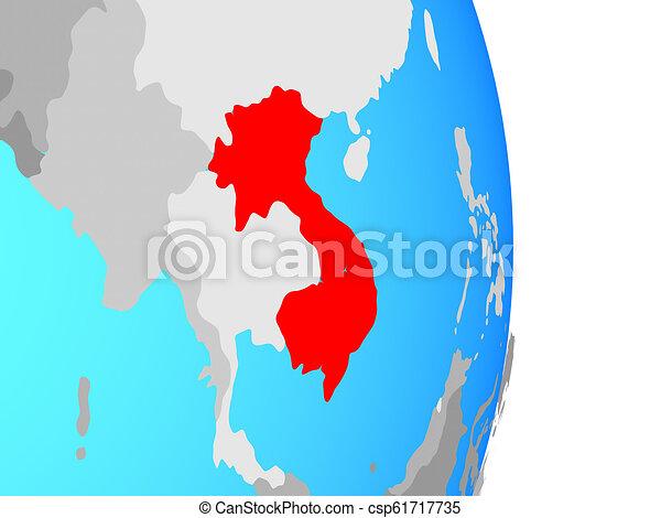 Indochina on globe - csp61717735