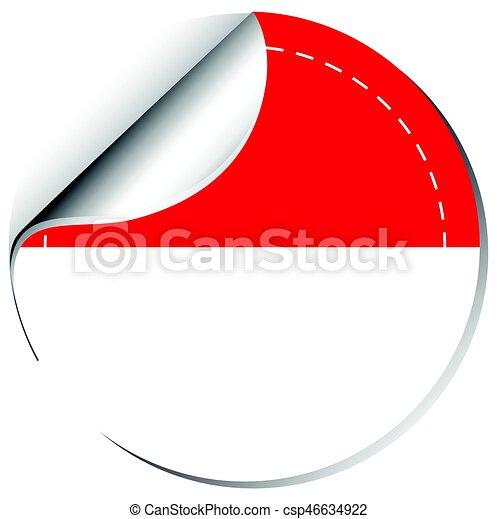 indonesia flag on round badge illustration