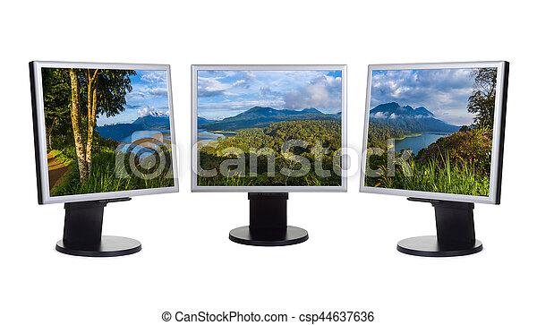 Bali Indonesia panorama (mi foto) en monitores de computadora - csp44637636