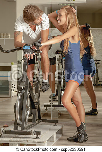 Indoor Activities Fitness Active People Affection - csp52230591