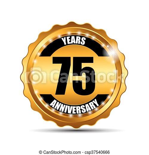 indorare, anniversario, illustrazione, segno, vettore, sagoma, etichetta - csp37540666