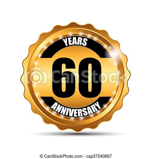 indorare, anniversario, illustrazione, segno, vettore, sagoma, etichetta - csp37540667