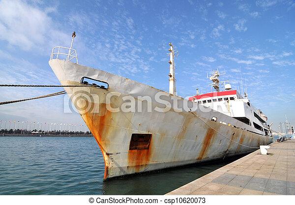 indulgence, bateau, jetée - csp10620073