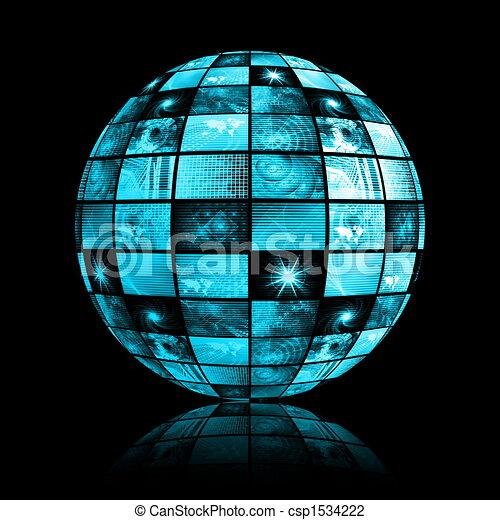 industri, totala telekommunikationer, nätverk - csp1534222
