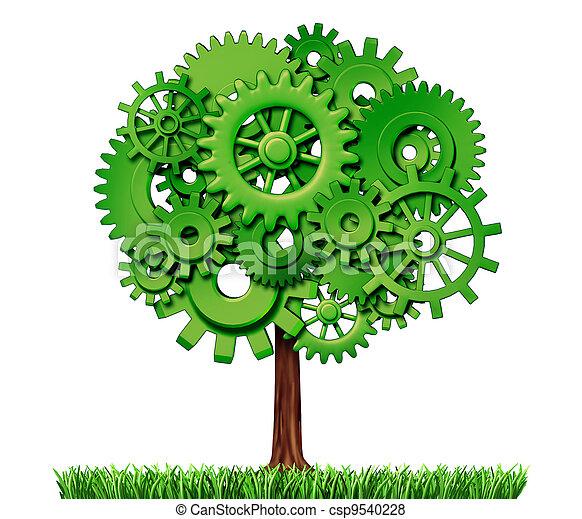 Árbol de éxito de negocios de industria - csp9540228