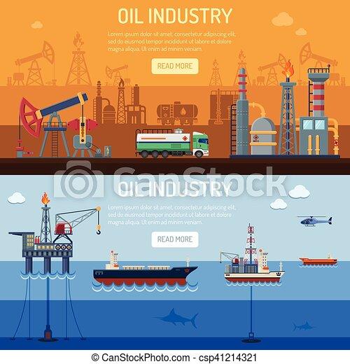 Estandartes de la industria petrolera - csp41214321
