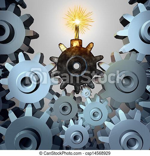 industria, bomba, tempo - csp14568929