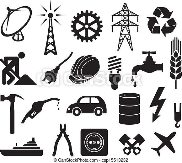 Colección de iconos de industria - csp15513232