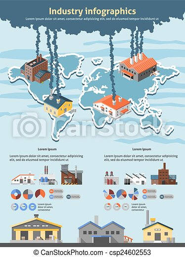 Industry infographics set - csp24602553