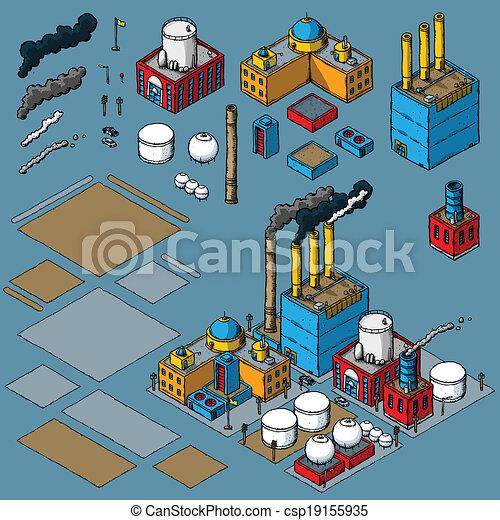 Kit de construcción de industria - csp19155935
