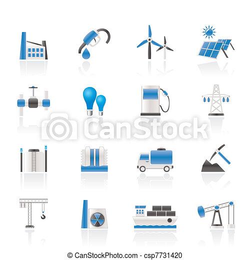 Negocios y iconos de la industria - csp7731420