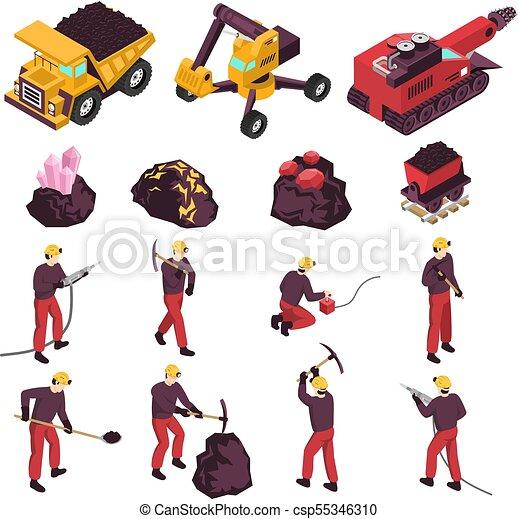 Icos de la industria minera - csp55346310