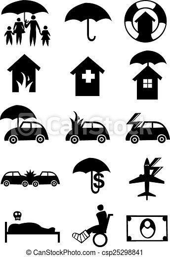 Iconos para la industria del seguro - csp25298841