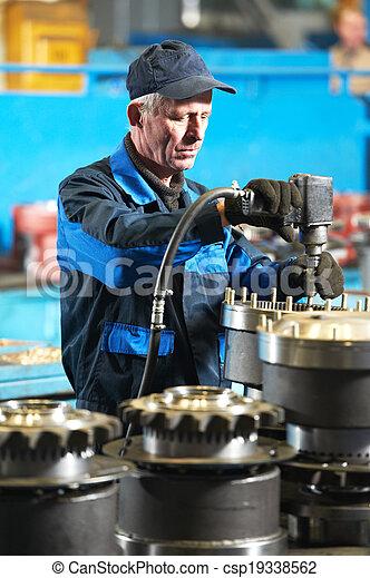 industrial, assembler, trabalhador, fábrica - csp19338562