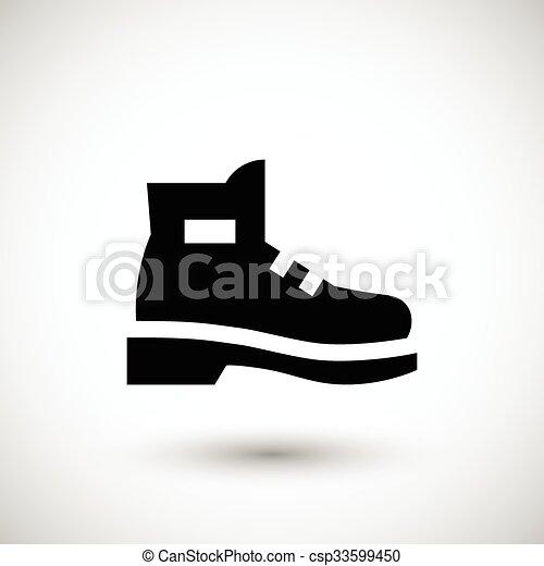 icono industrial de botas - csp33599450